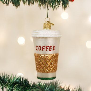 Old World Christmas Glass Ornament - Coffee To Go