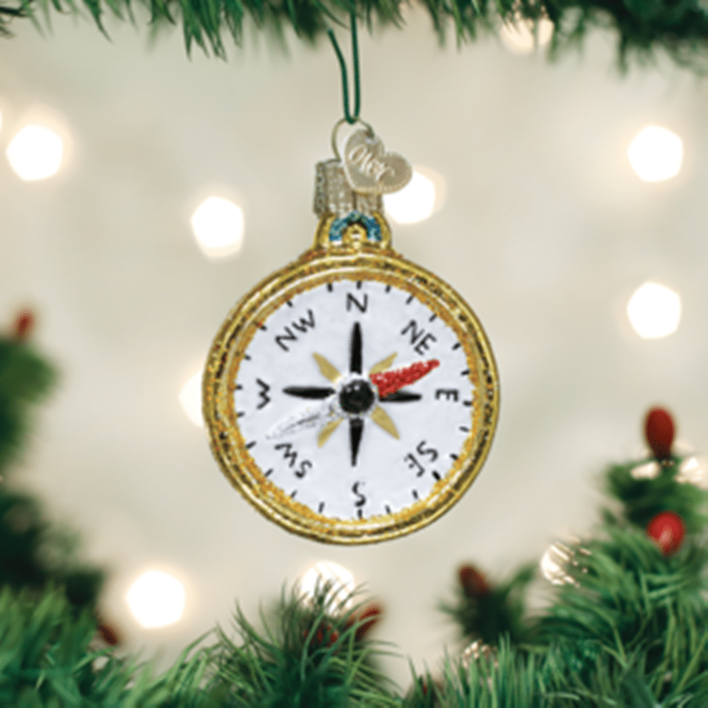 Old World Christmas Glass Ornament - Compass
