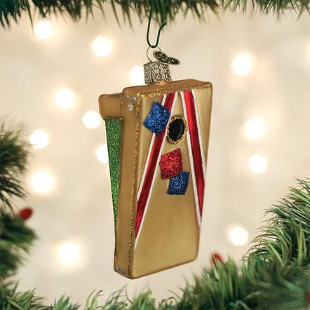 Old World Christmas Glass Ornament - Corn Hole Game