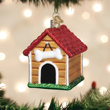 Old World Christmas Ornament - Dog House