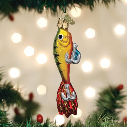 Old World Christmas Glass Ornament - Fishing Lure