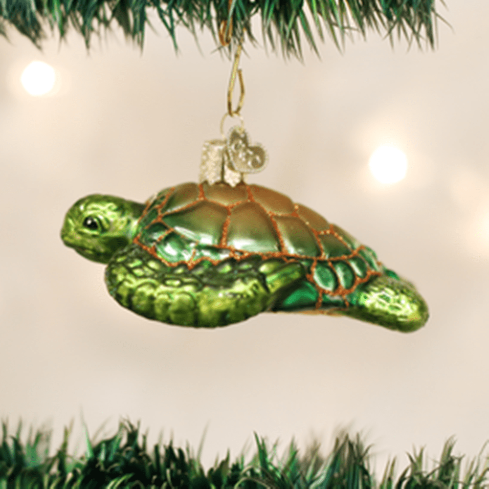 Old World Christmas Ornament - Green Sea Turtle