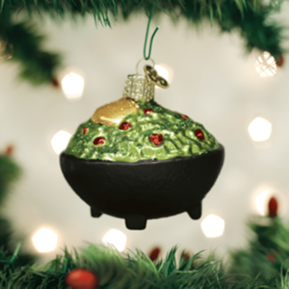 Old World Christmas Glass Ornament - Guacamole