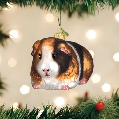Old World Christmas Ornament - Guinea Pig