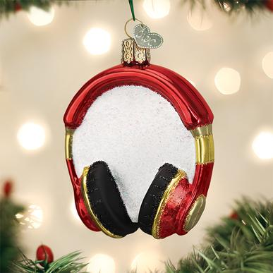 Old World Christmas Glass Ornament - Headphones