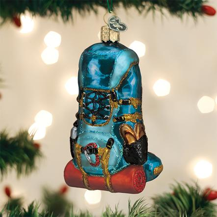 Old World Christmas Glass Ornament - Hiking Backpack