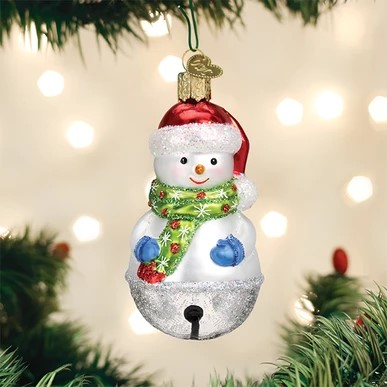 Old World Christmas Ornament - Jingle Bell Snowman