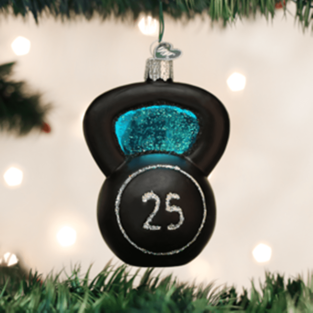 Old World Christmas Ornament - Kettlebell Weight