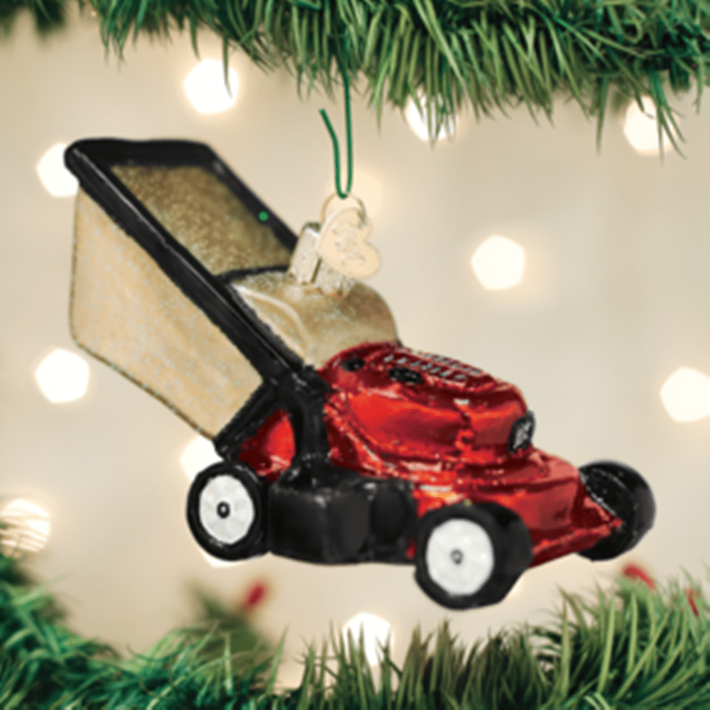 Old World Christmas Glass Ornament - Lawn Mower