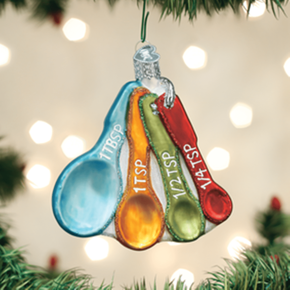 Old World Christmas Glass Ornament - Measuring Spoons