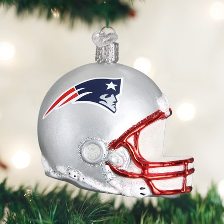 Old World Christmas Glass Ornament - New England Patriots Helmet