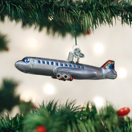 Old World Christmas Ornament - Passenger Plane