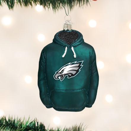 Old World Christmas Glass Ornament - Philadelphia Eagles Hoodie