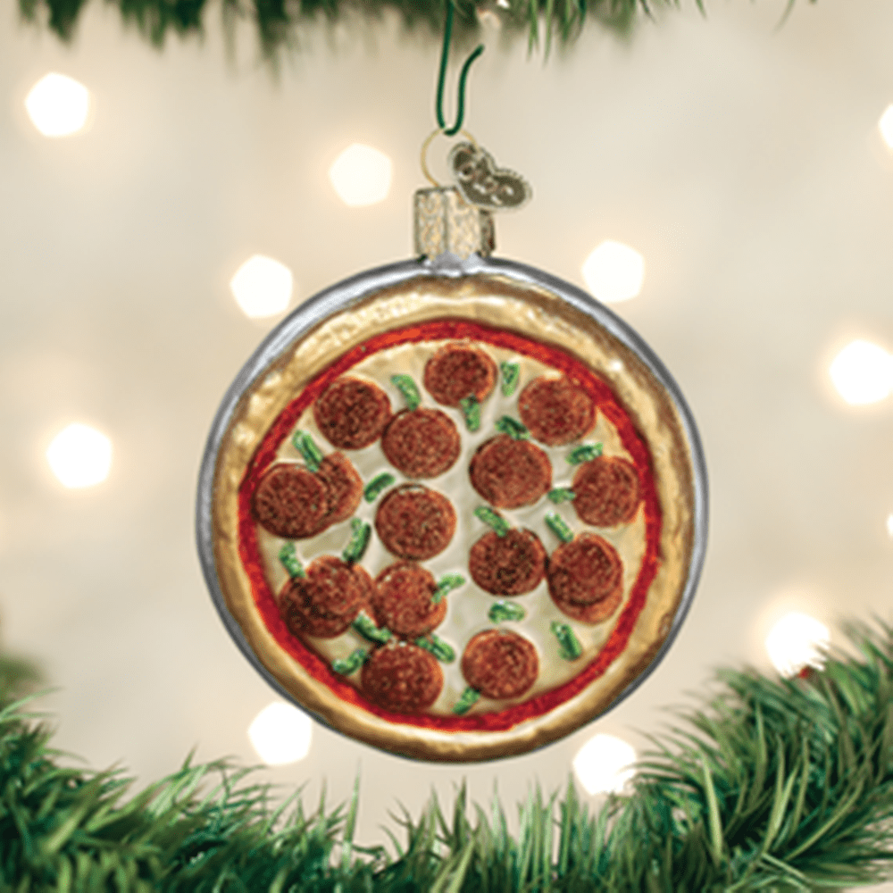 Old World Christmas Glass Ornament - Pizza Pie