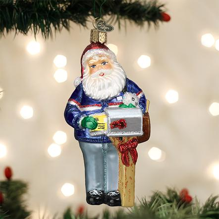 Old World Christmas Ornament - Postman Santa