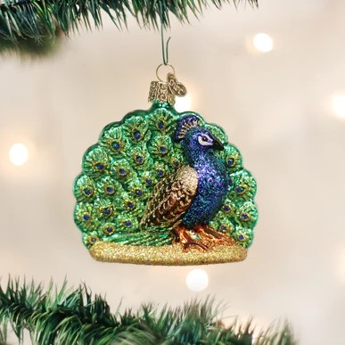 Old World Christmas Ornament - Proud Peacock