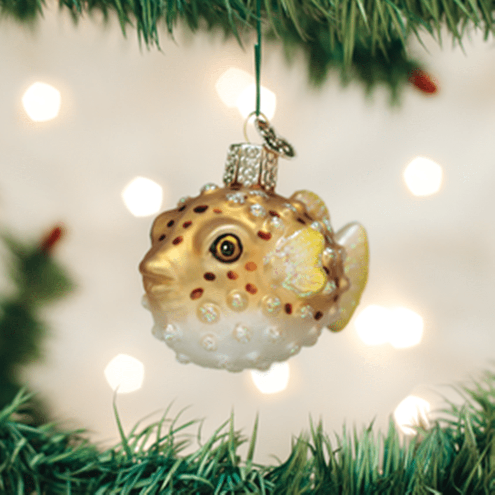 Old World Christmas Glass Ornament - Puffer Fish