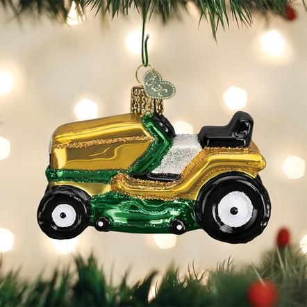 Old World Christmas Glass Ornament - Riding Lawn Mower