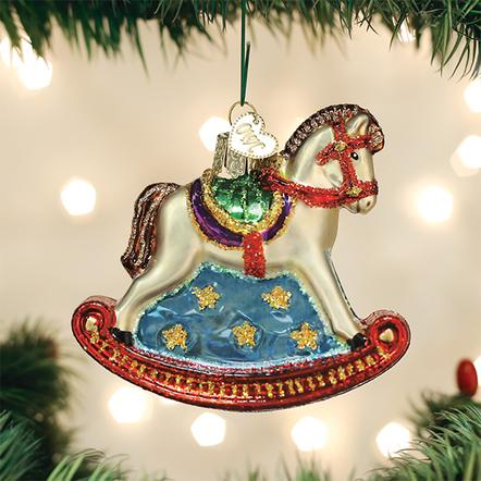 Old World Christmas Glass Ornament - Rocking Horse