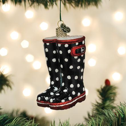 Old World Christmas Glass Ornament - Rubber Boots