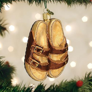 Old World Christmas Glass Ornament - Sandals