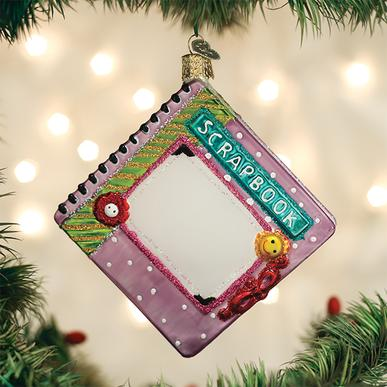 Old World Christmas Glass Ornament - Scrapbook