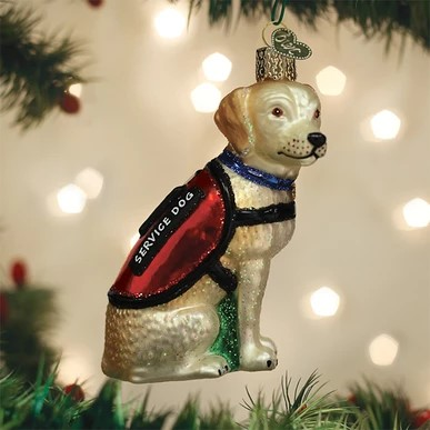 Old World Christmas Ornament - Service Dog