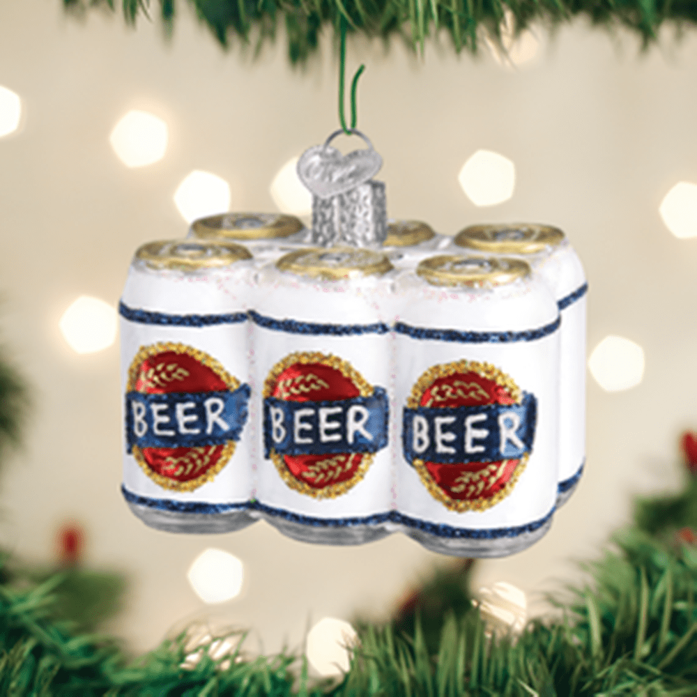 Old World Christmas Ornament - Six Pack of Beer