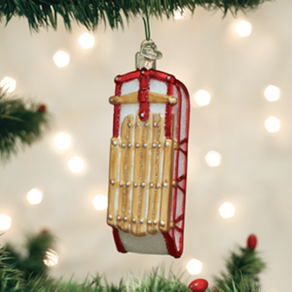Old World Christmas Glass Ornament - Sled