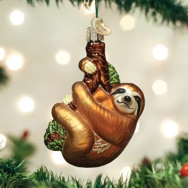 Old World Christmas Ornament - Sloth