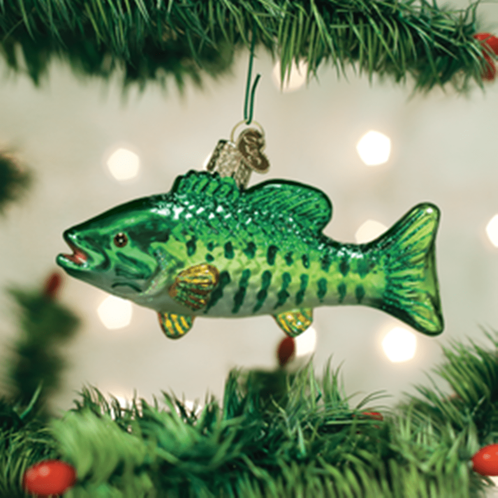 Old World Christmas Glass Ornament - Smallmouth Bass
