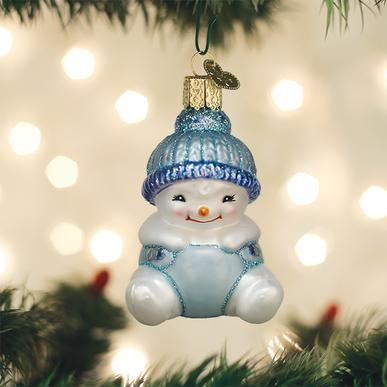 Old World Christmas Glass Ornament - Snow Baby Boy