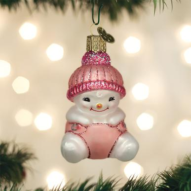 Old World Christmas Glass Ornament - Snow Baby Girl