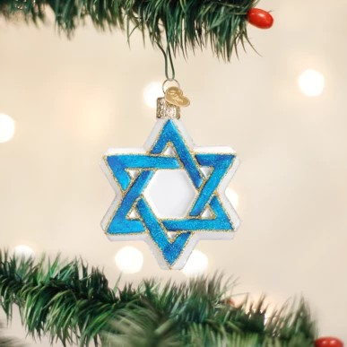 Old World Christmas Glass Ornament - Star of David