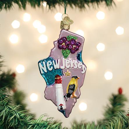 Old World Christmas Glass Ornament - State of New Jersey