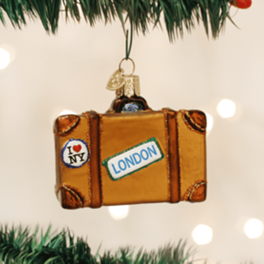 Old World Christmas Glass Ornament - Suitcase
