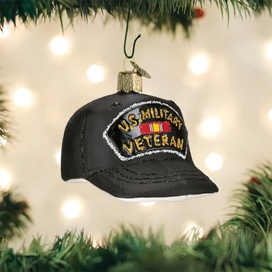 Old World Christmas Ornament - Veterans Cap