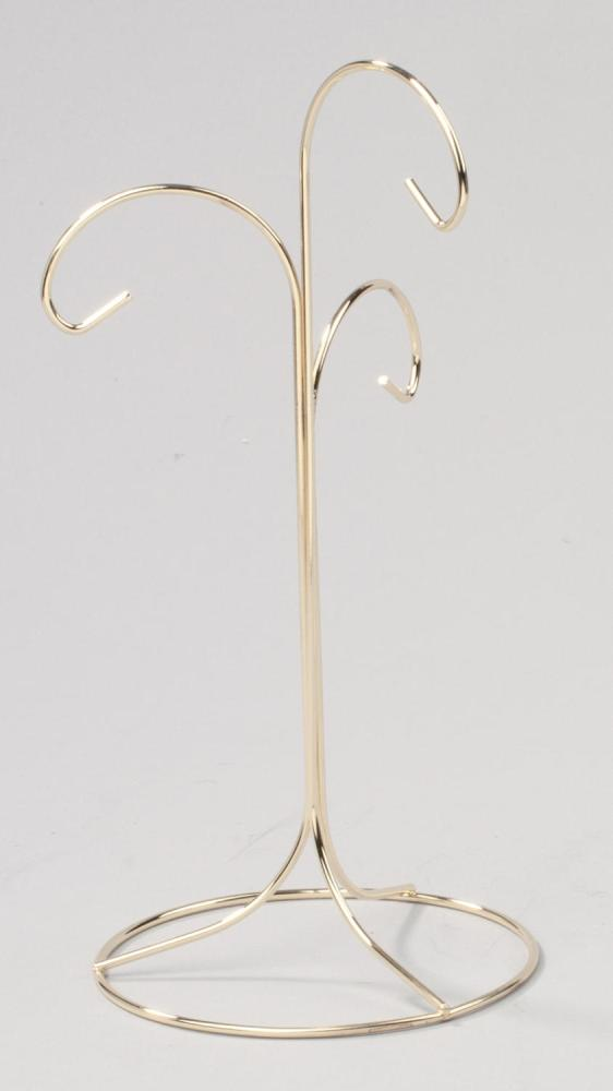 Ornament Hanger - 3 Ornaments - Brass - Up to 8.75in Ornament