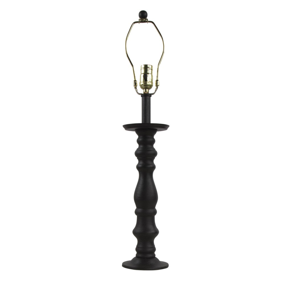 Park Designs Candlestick Lamp with Harp - Black - 25.25in