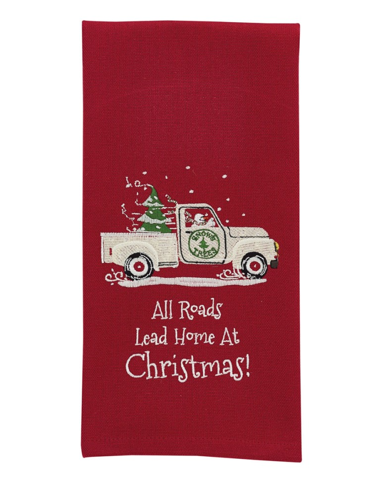 Park Designs Dish Towel - Home At Christmas - Red Truck
