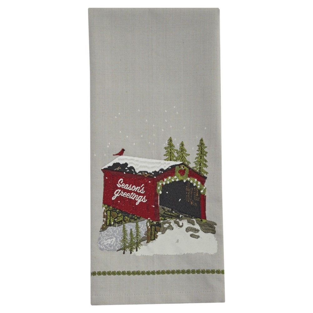 Park Designs Dish Towel - Seasons Greetings - Bridge