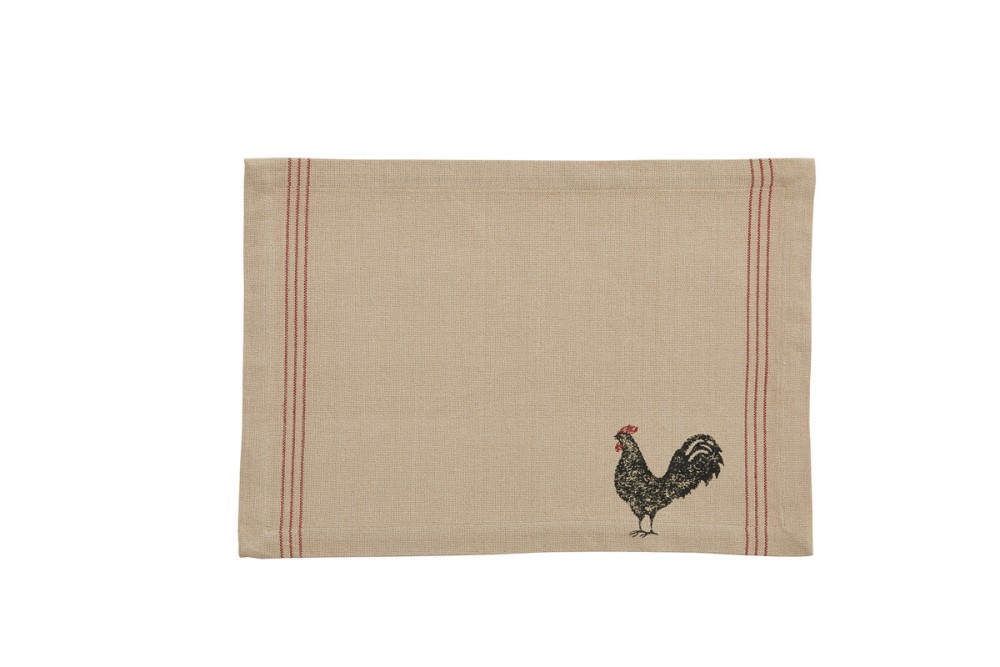 Park Designs Placemat - Hen Pecked Rooster - 13in x 19in