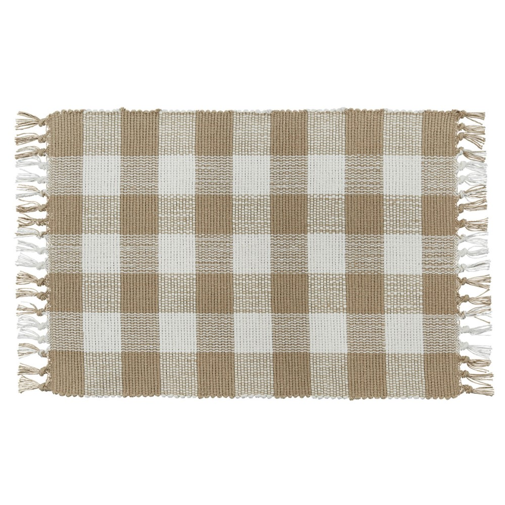 Park Designs Placemat - Wicklow Check Natural - 13in x 19in