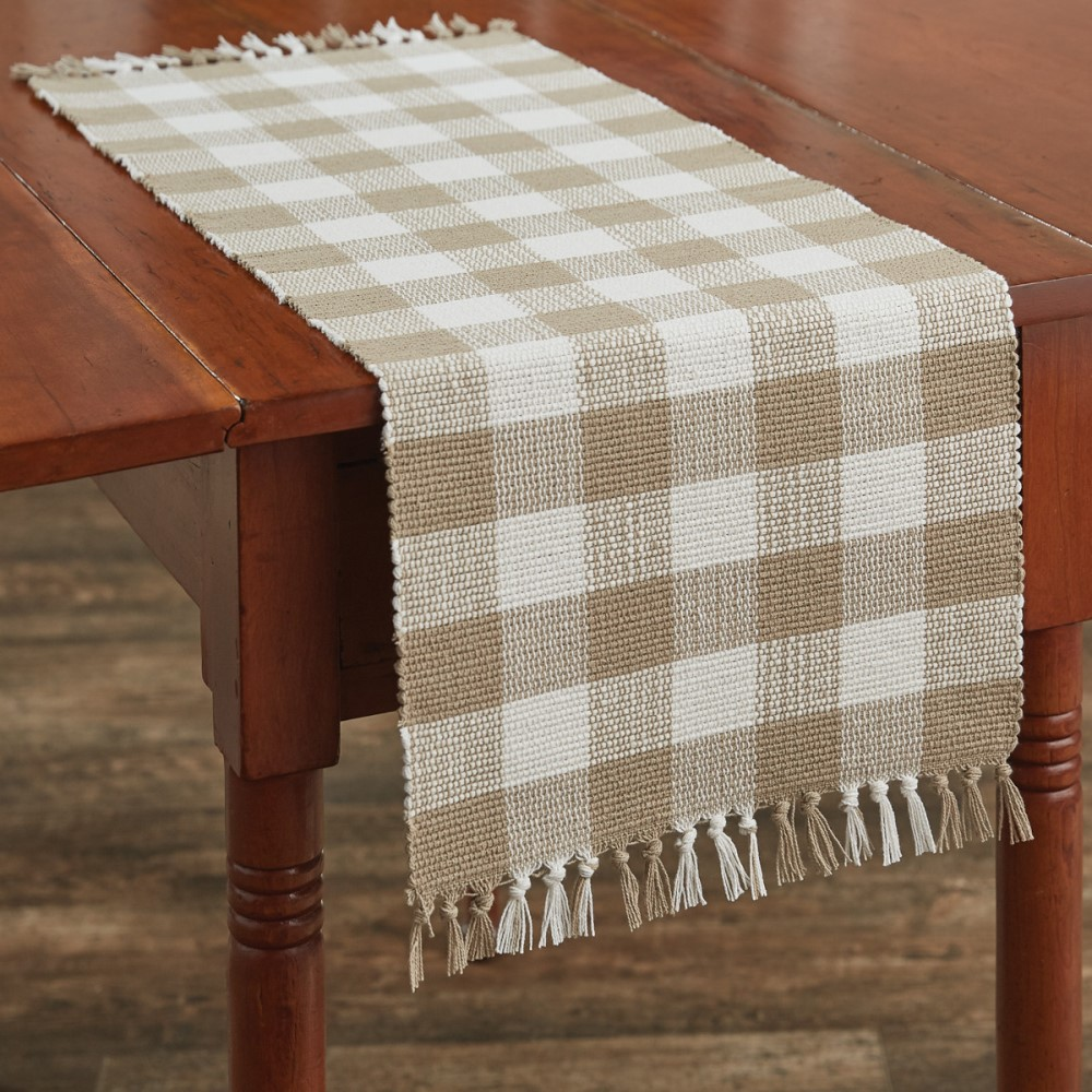 Park Designs Runner - Wicklow Check Natural - 13in x 36in