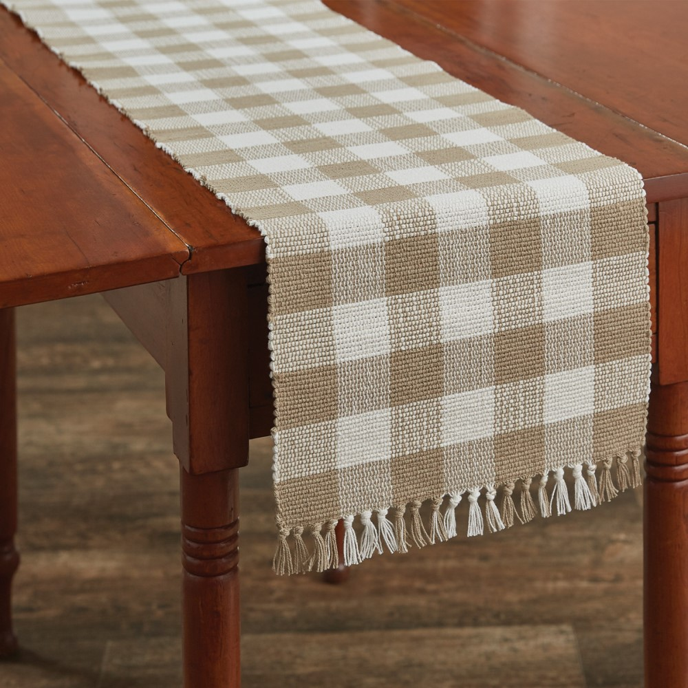 Park Designs Runner - Wicklow Check Natural - 13in x 54in