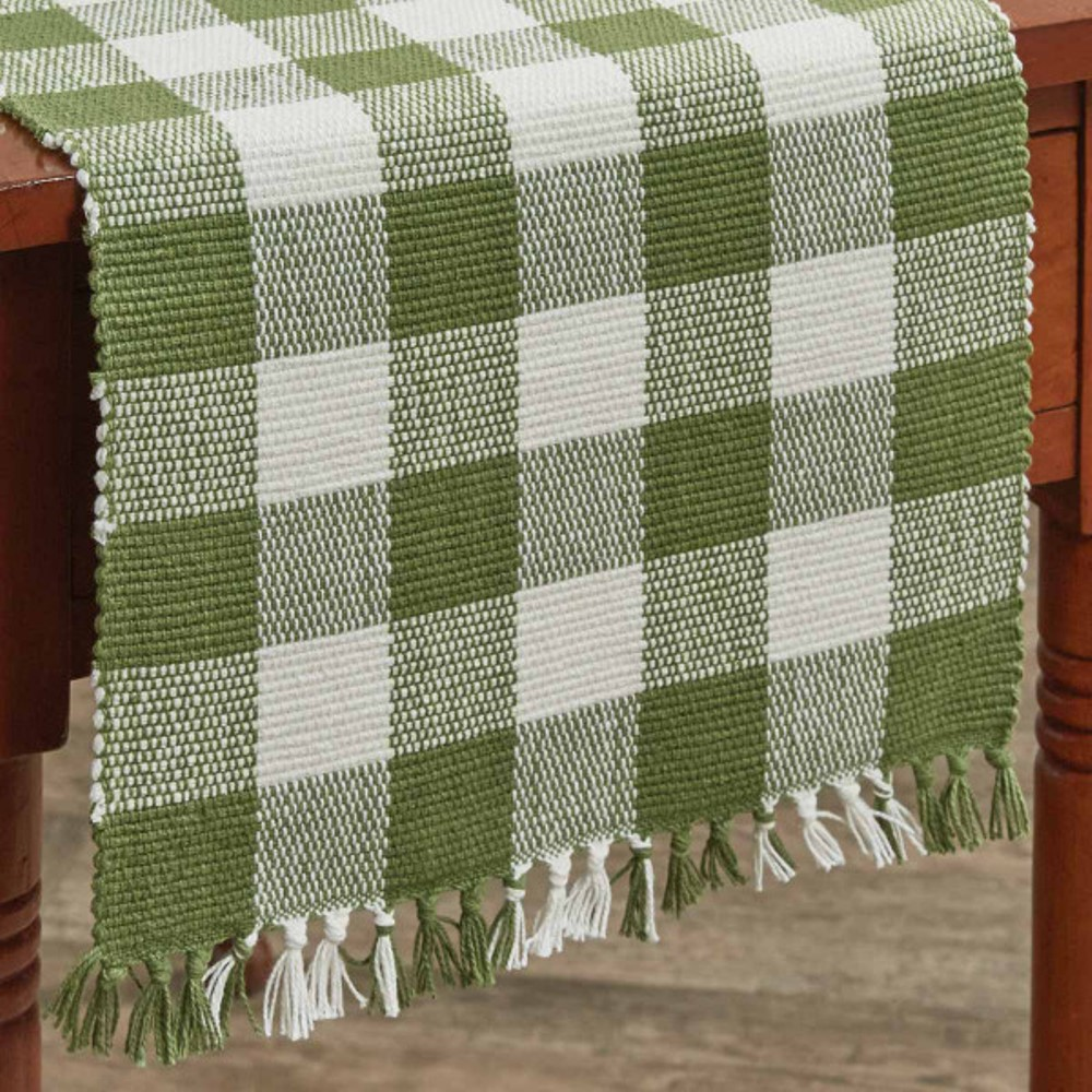 Park Designs Runner - Wicklow Check Sage - 13in x 36in