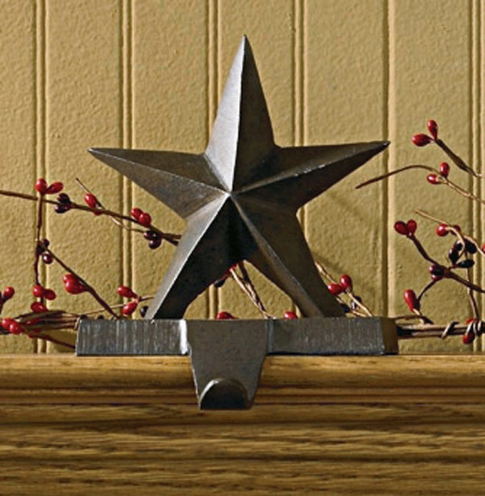 Park Designs Stocking Holder - Rustic Iron Star Hook