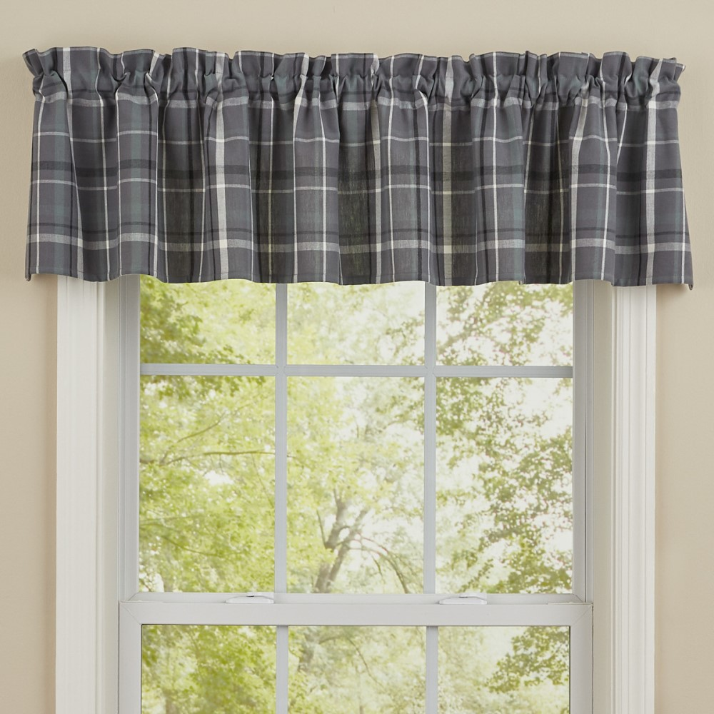 Park Designs Valance - Beaumont Plaid - Unlined - 72in x 14in