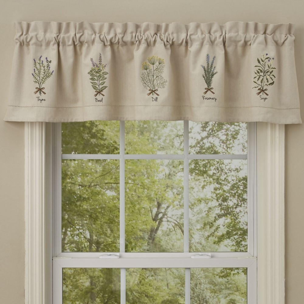 Park Designs Valance - Herb Embroidered - Lined - 60in x 14in