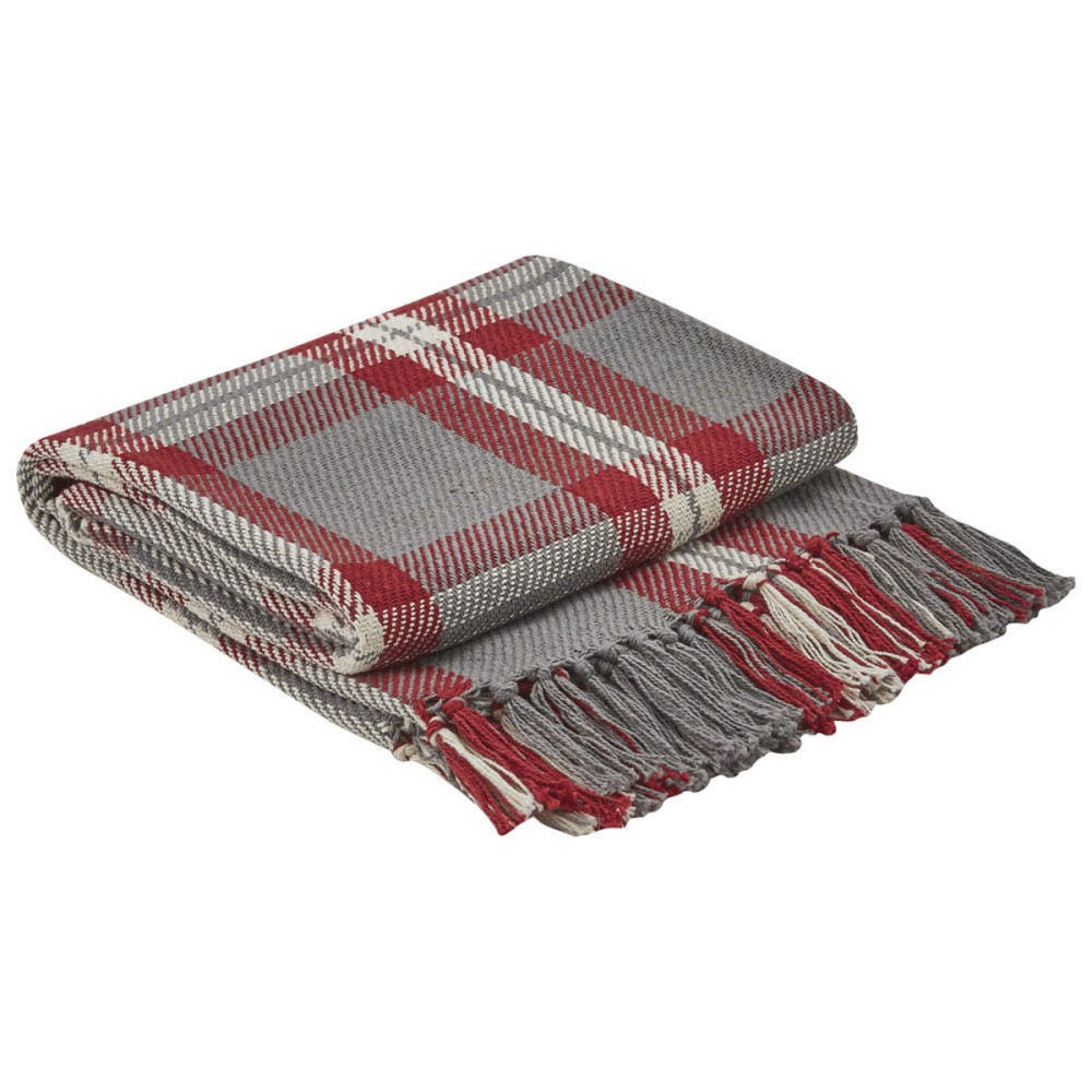 Park Designs Woven Throw Blanket - Farmhouse Holiday - 50in x 60in